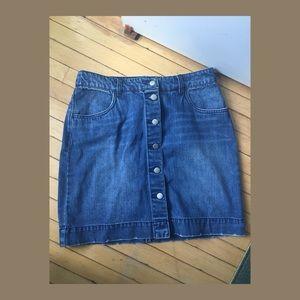 NWOT H&M full button up denim skirt